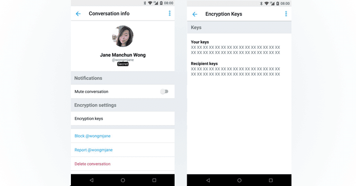 Takian.ir twitter endtoend encryption